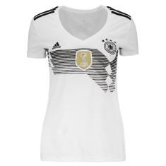 Fotos (2). 0  1. Camisa Torcedor Feminina Alemanha I 2018 19 Adidas 9471bd64ae87b