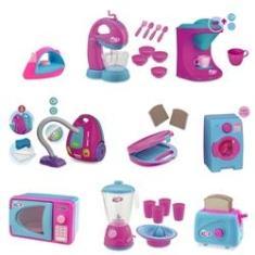 Imagem de Kit Com 9 Itens De Cozinha E Limpeza Infantil - Usual Brinquedos - Le Chef E Home Love