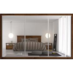 Guarda-Roupa Casal 3 Portas 6 Gavetas com Espelho Toronto 3E Europa Móveis