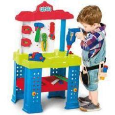 Imagem de Bancada de Trabalho com Ferramentas e Acessórios Brinquedo Calesita