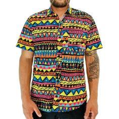 Imagem de Camisa Africana Estampa  Laranja Social - Phiphi Camisaria