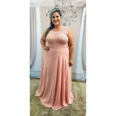 Imagem de Vestido de Festa Plus Size Rose - Madrinha Casamento Formatura