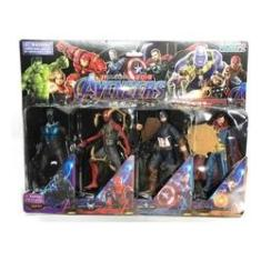 Imagem de Kit C/ 4 Bonecos Avengers Vingadores 17cm Com Luz