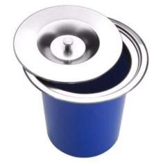 Imagem de Lixeira Pia Cozinha Embutir 5 Litros Inox