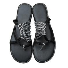Imagem de Sandálias de verão exclusivas Knot Slip-on chinelos femininos sapatos de desgaste casual antiderrapantes