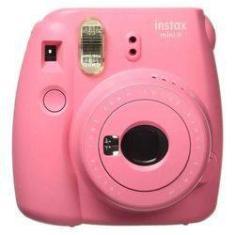 Câmera Fujifilm Mini 9 instantânea polaroid Rosa Flamingo