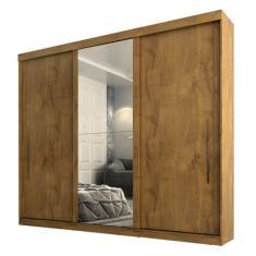 Guarda-Roupa Casal 3 Portas 2 Gavetas com Espelho Ravena Plus Panan Móveis