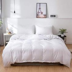 Imagem de JLXZHOME Capa de edredom simples King e Queen Size Jogo de cama de cor lisa, , 210 x 210 cm