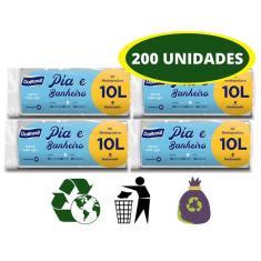 Imagem de Saco de Lixo 10 Litros Perfumado  Kit 200 unidades