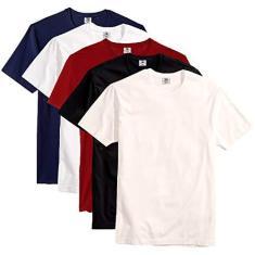 Imagem de Kit com 5 Camisetas Slim Masculina Básica Algodão Part.B