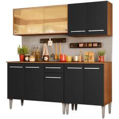 Imagem de Cozinha Compacta 1 Gaveta 9 Portas com vidro Emilly Drive Madesa