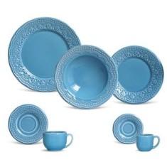 Aparelho de Jantar Redondo de Cerâmica Faiança 42 peças - Madeleine Porto Brasil