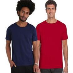 Imagem de Kit 4 Camisetas Malha Fria Pv Básica Poliéster Com Viscose