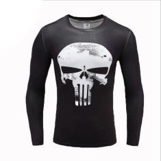 Imagem de Moda masculina de verão camisetas de compressão impressa em 3D Meias de manga comprida