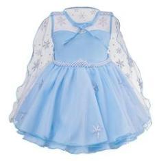 Imagem de Vestido Infantil Princesa Frozen  com Capa Festa 1 ao 4