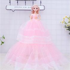 Imagem de Boneca Menina Com Vestido De Casamento Princesa Boneca Bebe infantil
