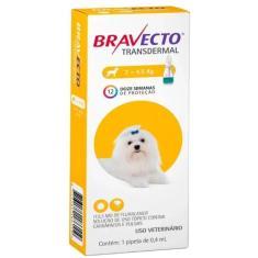 Antipulgas e Carrapatos MSD Bravecto Comprimido Mastigável Para Cães De 2,0 a 4,5 Kg