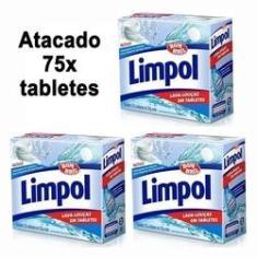 Kit 3 Detergente Limpol Máquina Lava Louças 75 Tabletes