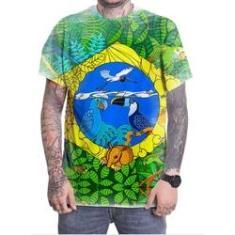 Imagem de Camiseta Camisa Personalizada Amazônia Amazonas Mata Atlântica Brasil Salva A Selva 01