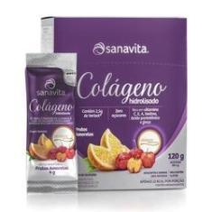Colágeno Hidrolisado Verisol - Frutas s - Sanavita - 30 sticks 4g 120g