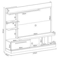 Imagem de Estante Home Theater Para TV até 60 Pol. Allure Off White/Deck - HB Móveis