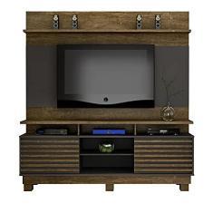 Imagem de Estante Home com painel Valdemóveis Texas para TV até 60 polegadas - Ipé/Grafite -