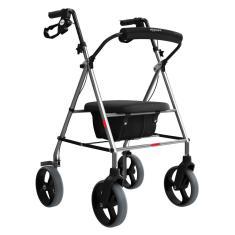 Imagem de Andador Aluminio 4 Rodas Assento / Cesto Mercur