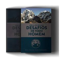 Bíblia De Estudo NVT- Desafios De Todo Homem - Capa Azul E Cinza - 3ª Ed. - Mundo Cristão - 7898950265951