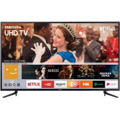 "Smart TV TV LED 58"" Samsung Série 6 4K HDR Netflix 58MU6120 3 HDMI"