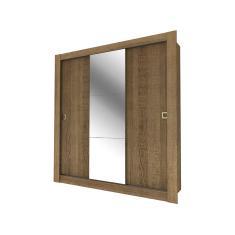 Guarda-Roupa Casal 3 Portas com Espelho City Madesa