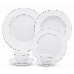 Aparelho de Jantar Redondo de Porcelana 42 peças - Flamingo Diamond Oxford Porcelanas