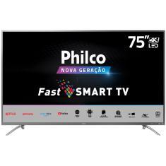 """Smart TV LED 75"""" Philco 4K PTV75E30ST 4 HDMI LAN (Rede)"""