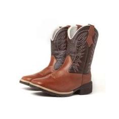 Imagem de Bota Texana Country Masculina Cano Longo Marrom Cowboy 741