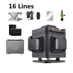 Imagem de 12/08/16 Linhas 4D Nível de Laser Sem Fio Nível Remoto Autonivelante 360 Horizontal e Vertical Cruzado Nível de Laser Verde Poderoso