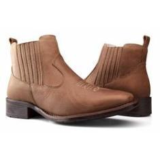 Imagem de Bota Texana Country Capelli Boots em Couro Cano Curto com Fechamento em Elástico Feminina