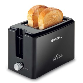 Imagem de Torradeira Mondial Toast Due Black T-05 2 Fatias