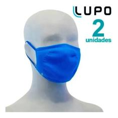 Imagem de Kit 2 Máscaras Lupo Infantil Antiviral Bac-off Kids
