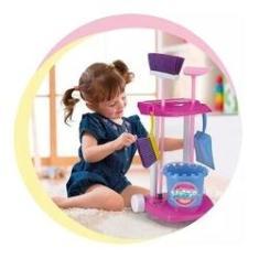 Imagem de Kit De Limpeza Infantil Vassoura Pa Rodo Master Clean