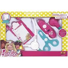 Imagem de Barbie Kit Médica Básico Com 4 Acessórios Fun