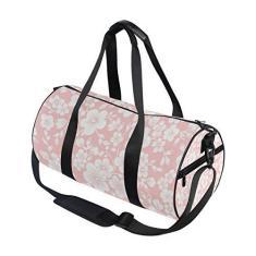 Imagem de Bolsa esportiva pequena floral para viagem, academia, ombro, bolsa de mão, para homens, mulheres, crianças, meninos e meninas