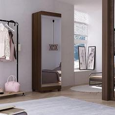 Imagem de Sapateira 1 Porta com Espelho e Pés 7 Prateleiras Esmeralda Gelius