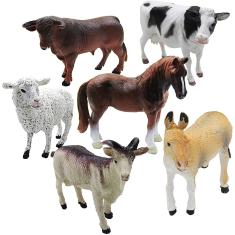 Imagem de 6 peças Farm Animal Models Toy Set, Realistic Animals Action Figure Model, Educational Learn Cognitive Toys
