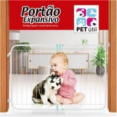 Imagem de Portão Grade Expansivo Proteção Criança Cão Pet 70 A 115 Cm