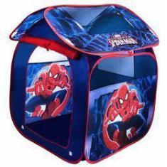 Imagem de Casinha Barraca Infantil Portátil Dobrável Cabana Teto Removível Spider Homem Aranha Zippy Toys