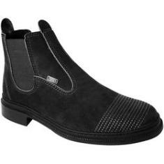 Imagem de Botina Masculina Em Couro Vaquejada Solado Costurado Nobuck  - 4ssss calçados