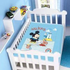 Imagem de Cobertor Infantil Disney Mickey Praia Barquinho  Marinho Jolitex