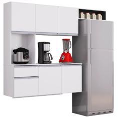 Imagem de Cozinha Compacta 1 Gaveta 6 Portas Mel A553 Poquema