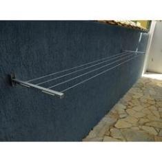 Imagem de Varal Roupa Retratil Dobravel Parede Apartamento Aluminio