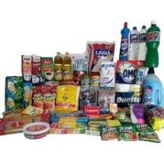 Imagem de Cesta Básica Completa C/ Produtos Limpeza E Higiene 59 Itens