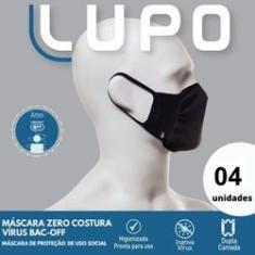 Imagem de Máscara Tecido Lavável Dupla  (c/04 Unds) Lupo